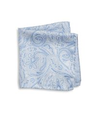 Saks Fifth Avenue - Blue Collection Paisley Print Silk Pocket Square for Men - Lyst