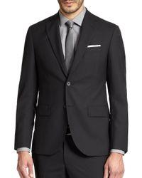 Saks Fifth Avenue - Black Modern-fit Wool Sportcoat for Men - Lyst