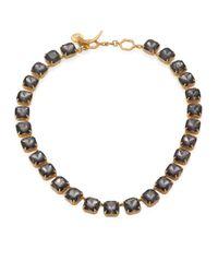 Tory Burch - Metallic Crystal Stone Short Necklace - Lyst