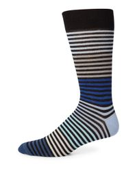 Saks Fifth Avenue - Blue Multi-tonal Striped Socks for Men - Lyst