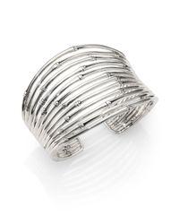 John Hardy - Metallic Bamboo Sterling Silver Wide Cuff Bracelet - Lyst