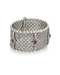 Konstantino - Metallic Sterling Silver Rhodolite Bracelet - Lyst
