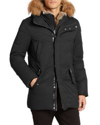 Mackage - Black Fur-trim Hip-length Down Jacket for Men - Lyst