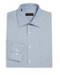 Ike Behar - Blue Regular-fit Plaid Dress Shirt for Men - Lyst