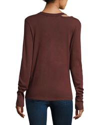 n:PHILANTHROPY - Multicolor Alexa Long Sleeve Knotted Tee - Lyst