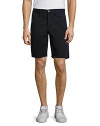Rag & Bone - Blue Solid Cotton Shorts for Men - Lyst