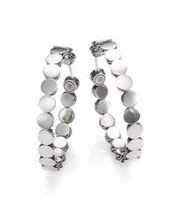 John Hardy - Metallic Dot Sterling Silver Hoop Earrings/1.5 - Lyst