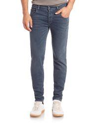 Rag & Bone - Blue Standard Issue Woven Skinny-fit Jeans for Men - Lyst
