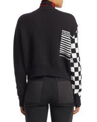 Proenza Schouler - Black Checkerboard Jacquard Sweater - Lyst