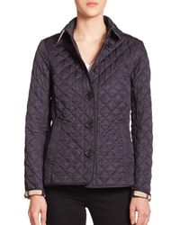 Burberry - Blue Ashurst Diamond-quilted Jacket - Lyst