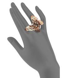 Erickson Beamon - Metallic Splendor In The Rose Swarovski Crystal Ring - Lyst
