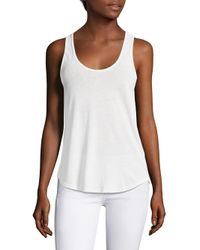 Splendid | White Twist Back Tank Top | Lyst