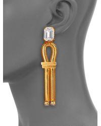 House of Lavande - Metallic Harbour Loop Drop Earrings - Lyst
