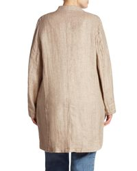 Eileen Fisher - Natural Textured Long Jacket - Lyst