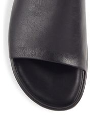 Saks Fifth Avenue - Black Collection Slide Leather Sandals for Men - Lyst