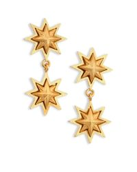 Stephanie Kantis - Metallic Double Sunburst 24k Yellow Gold Drop Earrings - Lyst