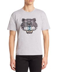 KENZO - Gray Icon Tiger Tee for Men - Lyst
