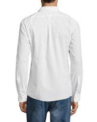 HUGO - White Ero3 Arrow Print Shirt for Men - Lyst