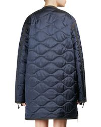 Sacai | Blue Silk Quilted Jacket | Lyst