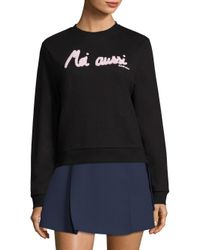 Carven - Black Moi Aussi Graphic Sweatshirt - Lyst