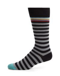 Paul Smith - Black Stretch Cotton-blend Socks for Men - Lyst