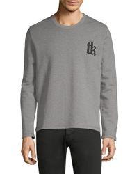 The Kooples - Gray Logo Sweater for Men - Lyst