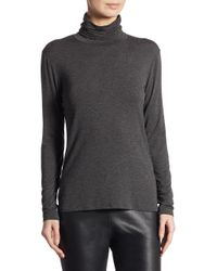 Weekend by Maxmara | Gray Long-sleeve High Neck Top | Lyst