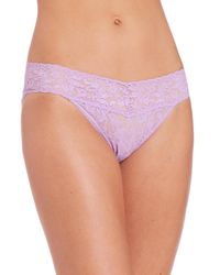 Hanky Panky - Purple Signature Lace V-kini Bikini - Lyst