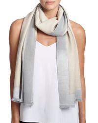 Bajra - Gray Frame Silk & Cashmere Scarf - Lyst