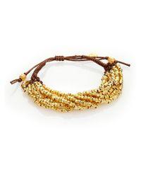 Chan Luu | Metallic Beaded Cord Multi-strand Bracelet | Lyst