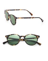 Oliver Peoples - Green Delray 48mm Round Sunglasses for Men - Lyst