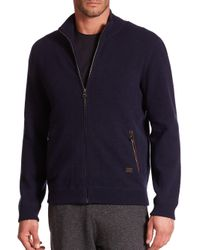 Ferragamo - Blue Full Zip Cashmere Sweater for Men - Lyst