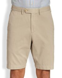 Saks Fifth Avenue - Natural Tailored Pima Cotton Shorts for Men - Lyst
