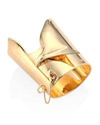 Eddie Borgo - Metallic Large Folded Cuff Bracelet - Lyst