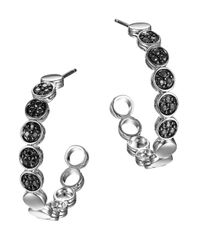 John Hardy - Dot Black Sapphire & Sterling Silver Hoop Earrings/1.05 - Lyst