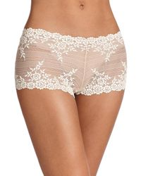 Wacoal - Natural Embrace Floral Boyshort - Lyst