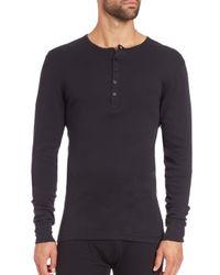2xist - Black Long-sleeved Cotton Shirt for Men - Lyst