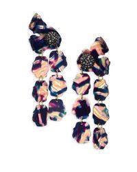Lele Sadoughi - Blue Petal Drop Earrings - Lyst