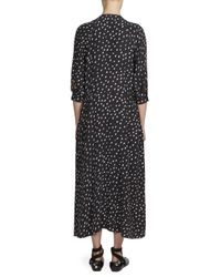 Cedric Charlier - Black Zip Front Balloon Dress - Lyst