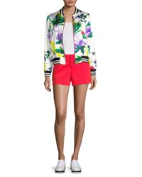 Alice + Olivia - Red Cady Shorts - Lyst