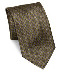 Brioni | Green Printed Silk Tie for Men | Lyst