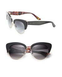 Dolce & Gabbana - Black Sicilian Carretto 52mm Acetate & Metal Cat's-eye Sunglasses - Lyst