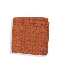 Saks Fifth Avenue - Orange Collection Reversible Printed Pocket Square for Men - Lyst