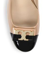 Tory Burch - Natural Gigi Colorblock Patent Leather Ballet Flats - Lyst