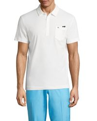 J.Lindeberg | White Mikael Cotton Blend Polo for Men | Lyst