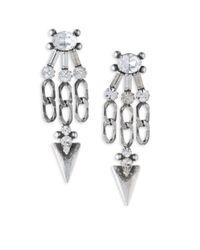 DANNIJO - Metallic Sofi Crystal Chandelier Earrings - Lyst