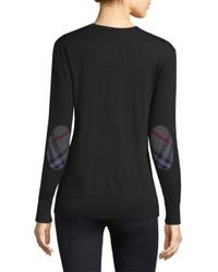 Burberry - Black Genil V-neck Top - Lyst