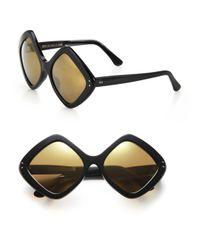 Cutler & Gross - Black 58mm Diamond Sunglasses - Lyst