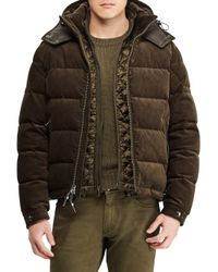 Ralph Lauren Purple Label - Green Rlx Skidmore Corduroy Puffer Jacket for Men - Lyst
