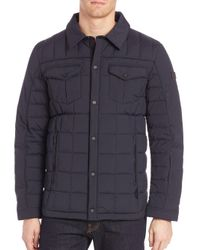 Tumi - Black Quilted Long Sleeve Jacket for Men - Lyst